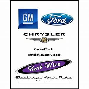 Replacement Instruction Manual  U2013 Kwik Wire