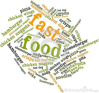 word for cuisine word cloud for fast food stock images image 27079244