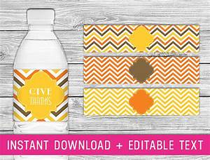 printable water bottle labels thanksgiving fall by With fall water bottle labels