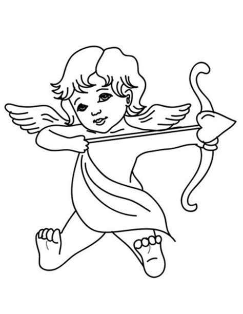 Kleurplaat Cupido by God Of Cupid Coloring Page God Of Cupid