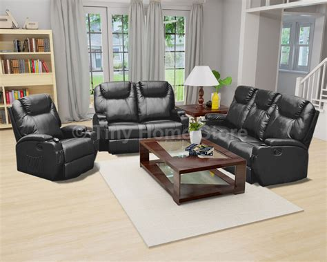 Settee Suites by Luxury Leather Cinema Recliner Sofa 3 2 1 Settee Suite Arm