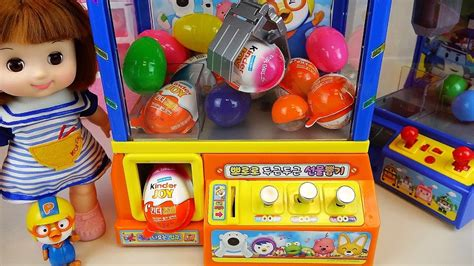 Crane Surprise Eggs Kinder Joy Toys And Baby Doll Poror...