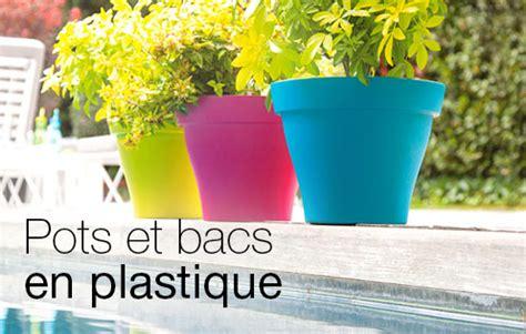 pour l ext 233 rieur bac pot en plastique contenants pour plantes jardinerie truffaut