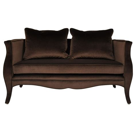 Settee For Sale by Richard Himmel Velvet Settee For Sale At 1stdibs