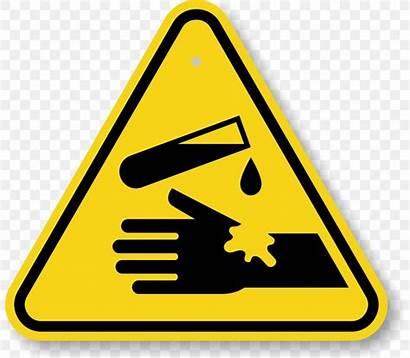 Hazard Chemical Corrosive Symbol Warning Clipart Transparent