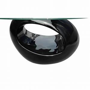 Verre A Pied Noir : la boutique en ligne table basse en verre pied noir laqu ~ Teatrodelosmanantiales.com Idées de Décoration