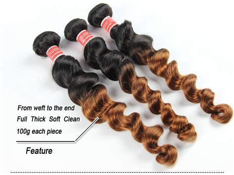 Ombre Brazilian Loose Wave Virgin Human Hair Extensions