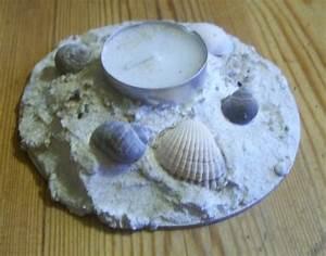 Basteln Mit Muscheln : teelichthalter mit sand und muscheln bastelfrau ~ Frokenaadalensverden.com Haus und Dekorationen