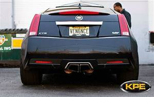 cts v coupe loudmouth axle back exhaust system korkar With ats tips