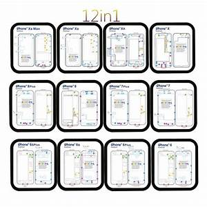 12 In 1 Guide Magnetic Screw Keeper Memory Chart Mat Repair For Iphone 6 6s 7 8 X Xs Max Xr