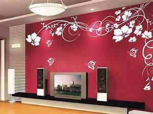 Cool Red Wallpaper Designs For Living Room 89 In Home ...