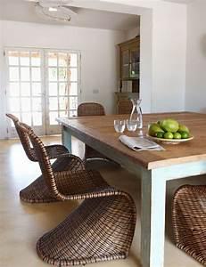 Chaises De Cuisine Modernes : notre inspiration du jour est la chaise en osier ~ Teatrodelosmanantiales.com Idées de Décoration