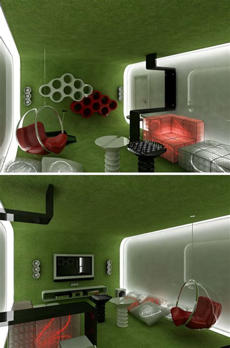 space age rooms explore home interior design extremes