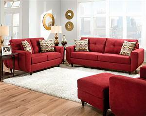 Red sofa set furniture of america cardinal formal 2 piece for 2 piece red sectional sofa
