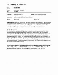 sample cover letter for internal job posting guamreviewcom With cover letters for social service jobs