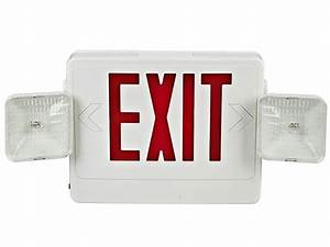 The Combination Exit Sign Emergency Light And Exit Fixture