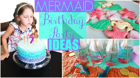 Mermaid Birthday Party Ideas: Decorations, Cake, DIY & Games!   YouTube