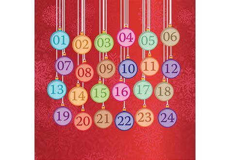 hanging christmas ornament advent calendar