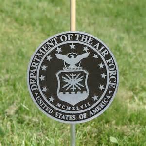 air force grave marker aluminum