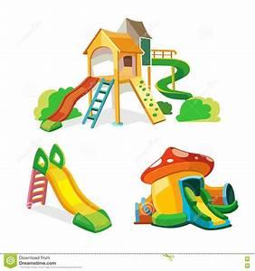 Vector Icon Set Of Children Playground. Stock Vector ...