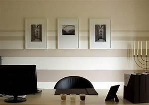 Wohnzimmer Streichen Muster : w nde mit farbe gestalten ideen ~ Markanthonyermac.com Haus und Dekorationen