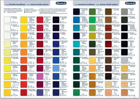 pin  jim neuner  acrylic paint color charts paint