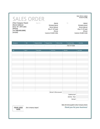 sle order form sales order template free edit fill create