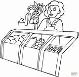 Grocery Store Coloring Pages Seller Printable Drawing Colouring Food Phones Devices Getdrawings Information Popular sketch template