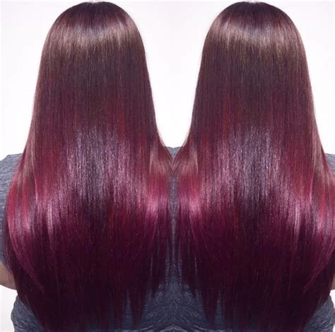 wine red shades   splash   hair colour trend beauty