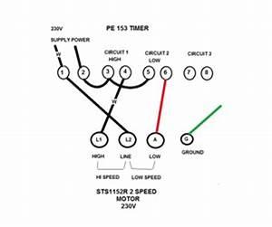2 Speed Wiring Diagram : how to wire a pe153 digital timer to a 2 speed 230v motor ~ A.2002-acura-tl-radio.info Haus und Dekorationen
