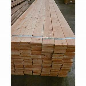 Poteau Bois Rond 3m : lame de terrasse 27x145 douglas sec naturel rabot ~ Voncanada.com Idées de Décoration