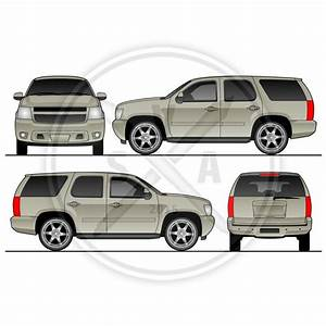 Tahoe suv vehicle template stock vector art for Vehicle graphic templates