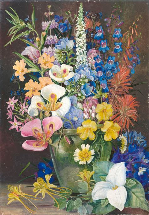 203 Group Of Californian Wild Flowers  Marianne North