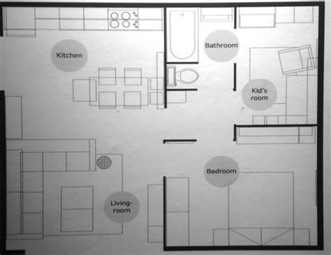 ikea small space floor plans    sq ft