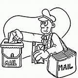 Coloring Mailman Popular Community sketch template