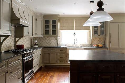 Cream Tile Backsplash : Cream Arabesque Kitchen Backsplash Tiles