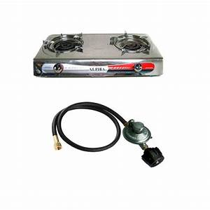 Deluxe Portable Propane Gas Stove Double Head Burner and ...