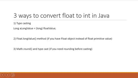 java mathceil return integer how to convert float to int in java exles java67