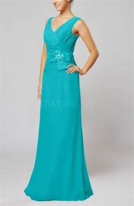 teal elegant sleeveless zip up floor length ribbon wedding With teal dresses for wedding guest