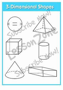 lesson zone au shape With 3 dimensional cube template