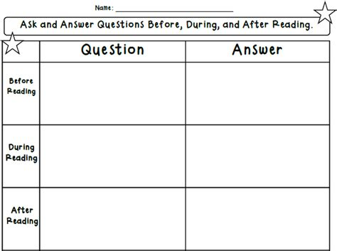 Teacher's Takeout Ask And Answer Questions Ccss Freebie