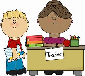 Boy at Teacher's Desk Clip Art - Boy at Teacher's Desk ...