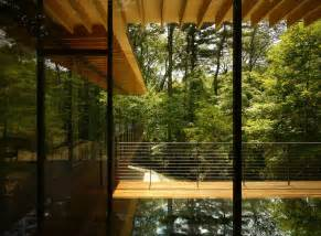 Top Photos Ideas For Wood And Glass Houses by Glass Wood House By Kengo Kuma 07