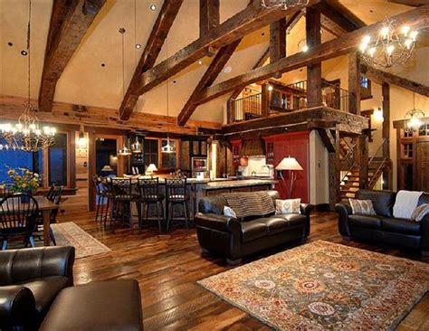 rustic open floor plan love  size  location   loft home ideas house plan