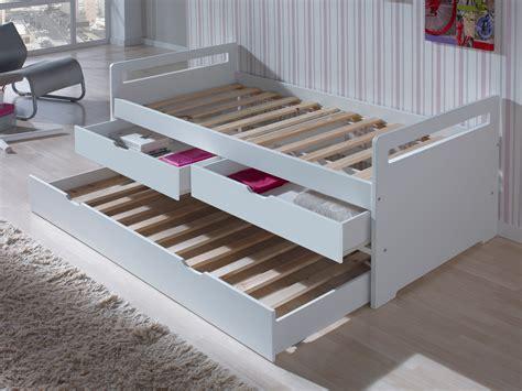 chaise bureau grise lit gigogne en bois 90x190 cm avec sommiers à lattes et 2