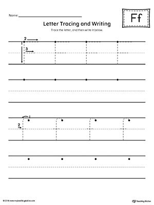 say and trace letter f beginning sound words worksheet