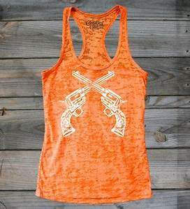 FRONT VIEW Neon Orange Juniors Country Girl Bang