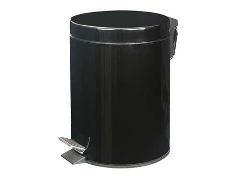 poubelle cuisine conforama poubelle de salle de bain 5 l bling coloris noir chez