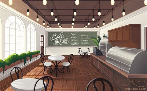 cafe background  xibxib  deviantart