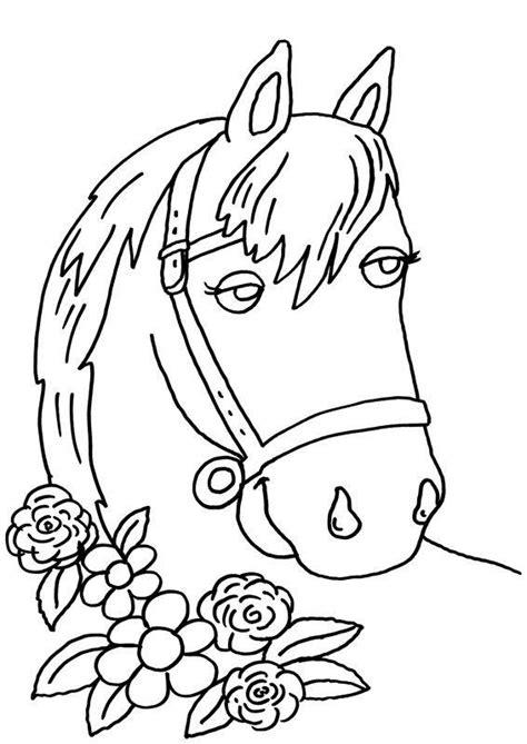 ausmalbild pferde pferd und blumen kostenlos ausdrucken